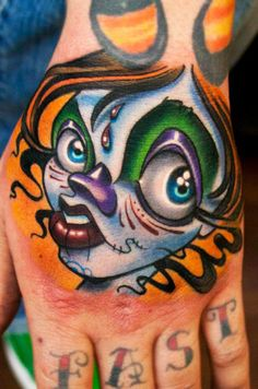 Tattoo Artist - Josh Woods - www.worldtattoogallery.com/hand_tattoos