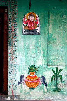 Wall painting ; Puri ; Orissa ; India