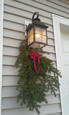 100 Cheap Dollar Store Christmas Decor Ideas in your budget – Ethinify - DIY Gartendekor Dollar speichert Winter Porch Decorations, Silver Christmas Decorations, Christmas Lanterns, Decorating With Christmas Lights, Porch Decorating, Holiday Decor, Decorating Ideas, Christmas Garden, Christmas Night