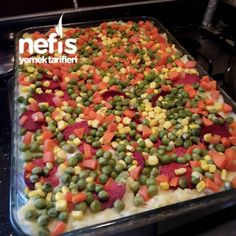 Anında Biten Tepside Kumpir Frozen Yogurt, Guacamole, Ham, Salsa, Beverages, Food And Drink, Pizza, Vegetables, Ethnic Recipes