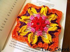 Dahlia Square crochet anda little Einstein - Tita Carré - Needle and tricot