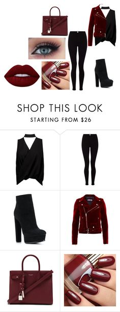 """Untitled #2416"" by hey-mate on Polyvore featuring Boohoo, Lipsy, Casadei, Yves Saint Laurent and Lime Crime"