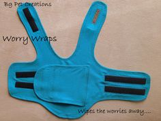 A Worry Wrap (a comfortably tight jacket) for Treating Separation Anxiety and Stress for Dogs - thundershirt diy