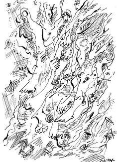 André Masson - Techniques surréalistes de création : dessin automatique, collage, frottage, grattage, fumage, décalcomanie et cadavre esquis