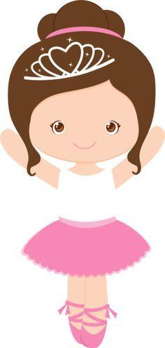 Little girl ballet dancer Ballerina Party, Ballerina Birthday Parties, Ballerina Cartoon, Ballerina Drawing, Baby Ballerina, Cute Clipart, Girl Clipart, Cute Images, Paper Dolls
