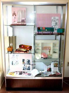 Retro Barbie Furniture Website---Interesting Dolls House Concept of using Adjustable Shelves for Barbie House