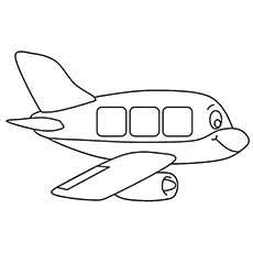 Airplane Coloring Pages Cartoon