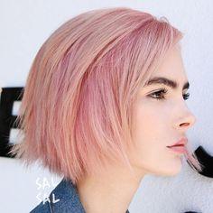 Pastel Pink Choppy Bob