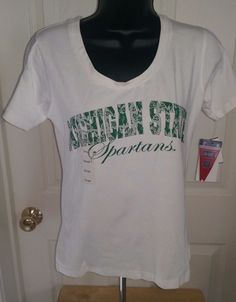 Campus Specialties NWT Woman's Michigan State Spartans Shirt Size S #CampusSpecialties #MichiganStateSpartans
