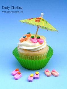 Un gracioso cupcake para una fiesta de verano! / A cute cupcake for a summer party!