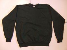 HANES Men's Sweats Size-L (42-44) Green Very Good!   #Hanes #SweatshirtCrew