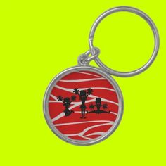 Red & White Zebra Cheer Key Chain by aLLthELitTLeThiNgS