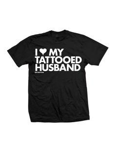 Dpcted I Heart My Tattooed Husband T-Shirt