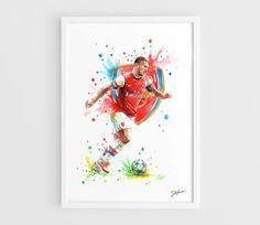 Lukas Podolski Arsenal FC  A3 Art Prints of the by NazarArt, $15.00