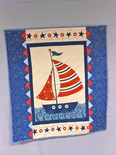 Red White & Blue Toy Sailboat Quilt