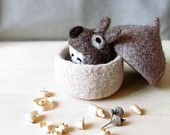 Succulent planters waldorf felt bowls and home от theYarnKitchen