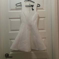 Topshop formed polyester dress Sz 4 New with partial tags label marked to prevent store returns Topshop Dresses Mini