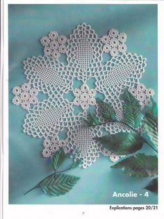 Great lace crochet mat