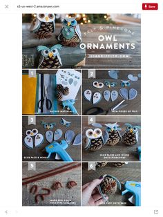 Welcome fall with this DIY pinecone owl ornament tutorial! Kids Crafts, Christmas Crafts For Kids To Make, Owl Crafts, Diy Christmas Ornaments, Pinecone Ornaments, Christmas Decorations, Christmas Tables, Felt Ornaments, Pine Cone Crafts For Kids