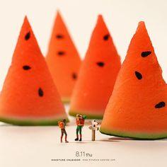 """. 8.11 thu """"Mountains"""" . こういう山なら登りやスイカ? . . #登りにくい #山の日 #祝日 #Watermelon…"""