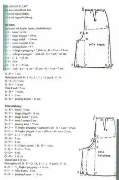 10 Gambar Pola Dasar Celana Terbaik Pola Celana Pembuatan Pola