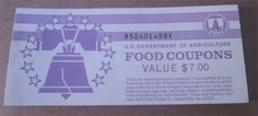 $5 USDA Incomplete Food Coupons Real Vintage Food Stamps 1998B B52401459V FREE SHIPPING