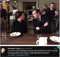 Brendan Coyle and Raquel Cassidy of Downton Abbey... Last Days of Downton ..