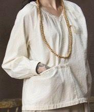 Gudrun Sjödén seersucker cotton blouse. Note the pocket!