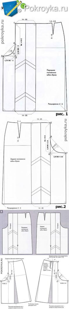 Culottes Pattern   pokroyka.ru-cutting and sewing lessons