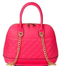 Harrison Quilted Domed Satchel with Long Strap