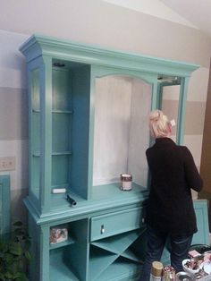IHeart Organizing: Our New-To-Us Painted Dining Room Hutch