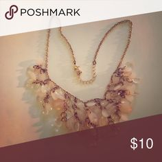 Peach and Gold Statement Necklace Beautiful fun necklace to add to any outfit - I wore it to a wedding with a long green dress Forever 21 Jewelry Necklaces