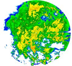 Latest radar image from the Puerto Rico/Virgin Islands radar and current weather warnings