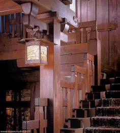 stairway, Gamble House, Greene and Greene architects