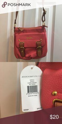 Coral Jessica Simpson purse Crossbody, leather Jessica Simpson Bags Crossbody Bags