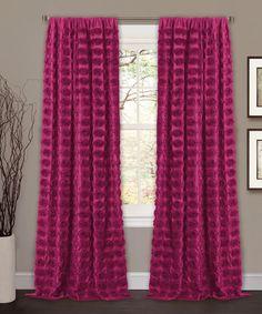 Look at this #zulilyfind! Pink Samantha Curtain Panel #zulilyfinds