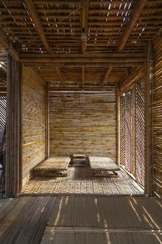 """architecture contemporaine : """"Blooming Bamboo Home"""", H&P Architects… Bamboo Architecture, Vernacular Architecture, Sustainable Architecture, Architecture Details, Interior Architecture, Interior Design, Wc Decoration, Bamboo House Design, Design Oriental"""