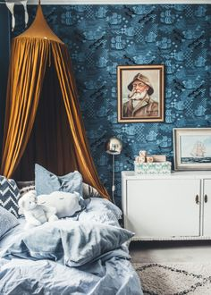 15 decor ideas for a fun and cheap kid's room - HomeCNB Kids Room Design, Design Bedroom, Girls Bedroom, Blue Bedroom, Modern Bedroom, Bedroom Wall, Bedroom Decor, Kids Decor, Home Interior