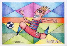 ILUSTRAÇÃO E ARTE - ADULTS COLORING PAGES - FOOTBALL - ARTE PARA COLORIR - ZAMBA