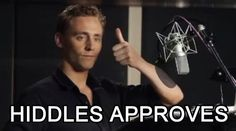 Hiddles approves.