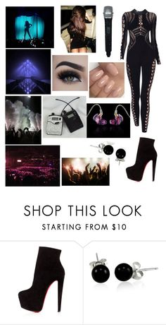 """1 (1 You Don't Know Me TOUR)"" by ylana-joy-garcia ❤ liked on Polyvore featuring Christian Louboutin, Eyeko, Julien Macdonald, Ultimate and Bling Jewelry"