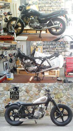 Honda CB 250 Fran Inkdelible por Mad Crow Garage dogsville custom bratstyle custom
