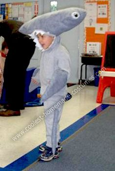 Homemade Hammer Head Shark Costume: My 3.5 year old son insisted on being a Hammer Head Shark; a regular shark would not do, it had to be a Hammer Head. Naturally, we searched for examples