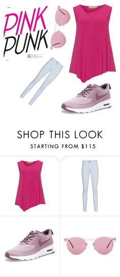 """""""PINK"""" by queeniedoggy ❤ liked on Polyvore featuring Isolde Roth, 7 For All Mankind, NIKE and Oliver Peoples"""