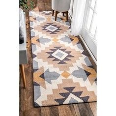 Shop for nuLOOM Mustard Hand-Hooked Modern Tribal Geo Print Area Rug. Get free delivery at Overstock - Your Online Home Decor Store! Get in rewards with Club O! Tribal Decor, Lounge, Southwestern Decorating, Online Home Decor Stores, Beautiful Kitchens, Outdoor Rugs, Runes, Decoration, All Modern