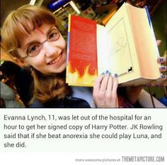 She wanted to play Luna, and so she did… Probably one of my favorite trivia facts about HP. You go girl!