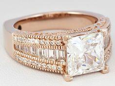 Vanna K (Tm) For Bella Luce (R) 5.75ctw 18k Rose Gold Over Sterling Silver Ring