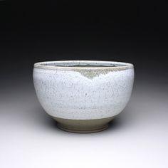 handmade serving bowl, ceramic bowl with green celadon and white glazes. $70.00, via Etsy.