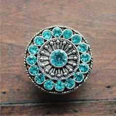 Turquoise Crystal Drawer Knobs - Silver Cabinet Knobs with Aqua Crystals - Round Pretty Dresser Knobs with Glass Glass Drawer Knobs, Glass Dresser, Dresser Knobs, Cabinet Knobs, Aqua Dresser, Dresser Drawers, Cabinet Hardware, Door Knobs And Knockers, Knobs And Pulls