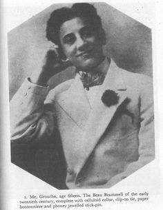 Groucho aged 15. From the book :'Groucho & Me- The Autobiography'